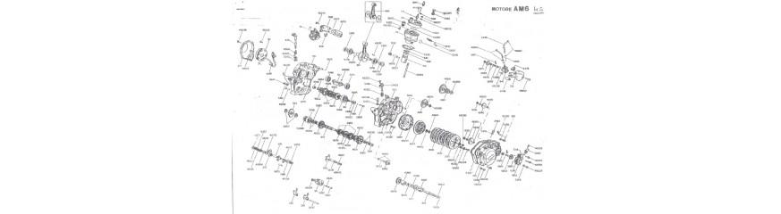 Pièces moteur origine mécaboîte am6
